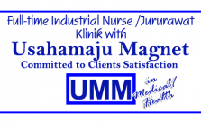 Full time Industrial nurse Jururawat Klinik with Usahamaju Magnet Sdn Bhd in Medical Health