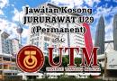 Jawatan Kosong JURURAWAT U29 (Permanent) di Universiti Teknologi Malaysia