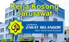 Kerja Kosong Jururawat di Lembaga Zakat Selangor