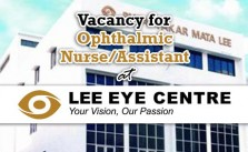 Ophthalmic Nurse/Assistant at Lee Eye Centre Sdn Bhd