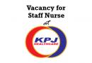 Vacancy for Staff Nurse at KPJ Healthcare Berhad
