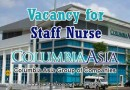 Vacancy for Staff Nurse at Columbia Asia Hospital