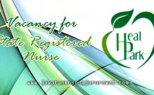 Vacancy for State Registered Nurse at Heal Park Nursing Care Sdn Bhd