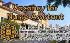 Vacancy for Nurse Assistant at IIUM Kuantan Campus