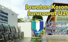 Jawatan Kosong Jururawat U29 di Universiti Malaysia Pahang (UMP)