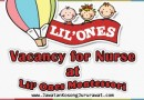 Vacancy for Nurse at Lil' Ones Montessori