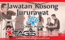 Jawatan Kosong Jururawat di Tonik Asia Group Sdn Bhd