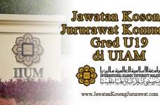 Jawatan Kosong Jururawat Komuniti Gred U19 di UIAM